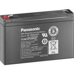 Svinčev akumulator 6 V 7.5 Ah Panasonic Blei 6V 7, 5Ah UP-VW0645P1 svinčevo-koprenast (AGM) 150 x 94 x 34 mm ploščati vtič 6.35