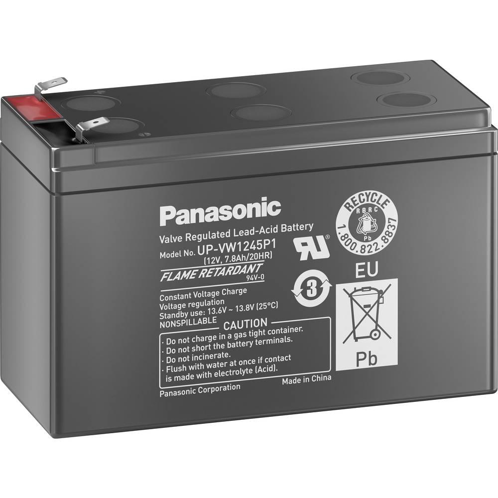 Olovni akumulator 12 V 7.8 Ah Panasonic UP-VW1245P1 olovno-koprenasti (AGM) (Š x V x D) 151 x 94 x 65 mm plosnati utikač 6.35 mm