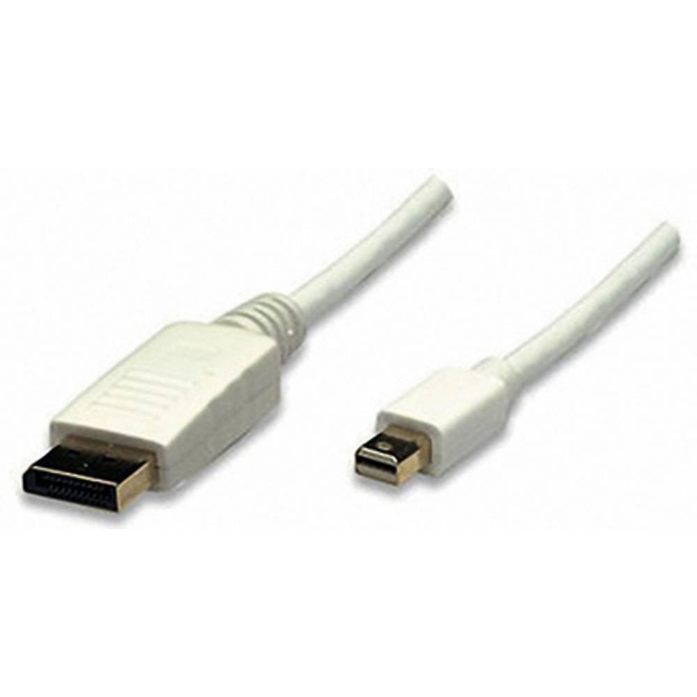 DisplayPort priključni kabel [1x Mini-DisplayPort-utikač <=> 1x DisplayPort-utikač] 2m, bijel