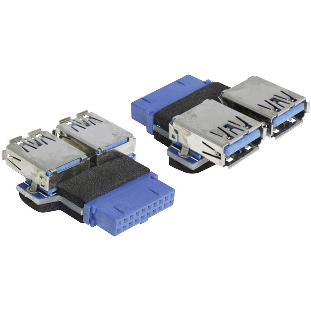 USB 3.0 vmesnik [1x USB 3.0 vtič 19 pin interno. - 2 x USB 3.0 vtič] Blue Delock 65324