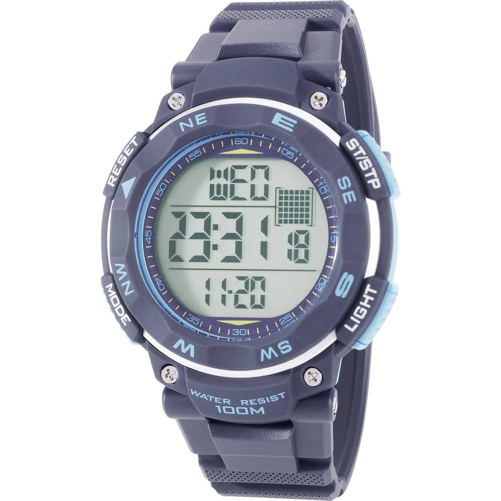 Digitalni ručni sat YP-11532-04 (Ø x V) 51 mm x 16 mm plava boja, Renkforce