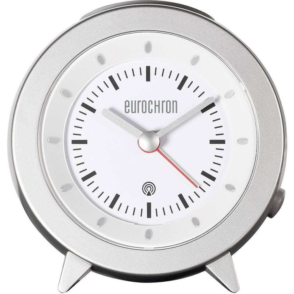 Radijsko vodena budilka, barva ohišja: srebrna, barva številčnice: bela (Š x V x G) 101 x 103 x 55 mm Eurochron