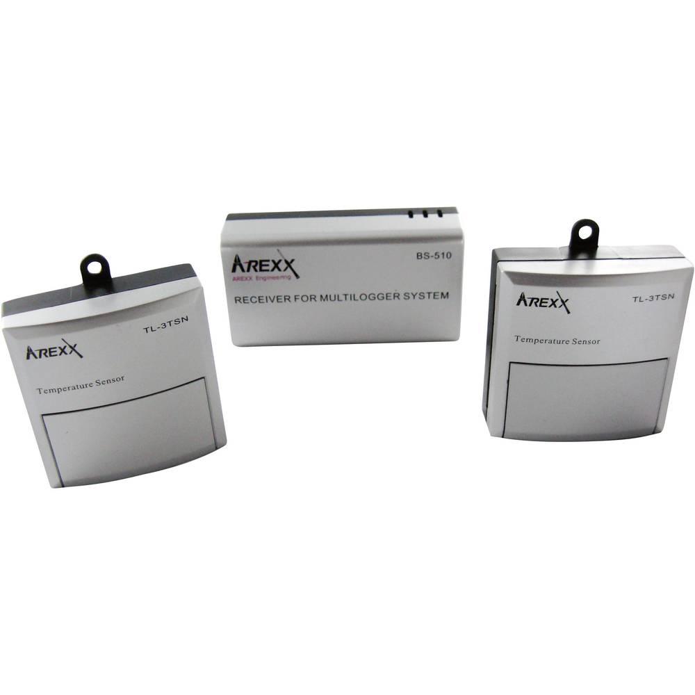 Arexx TL-500 shranjevalnik podatkov, zapisovalnik meritev, Flash pomnilnik: 2 MB, od -30 d