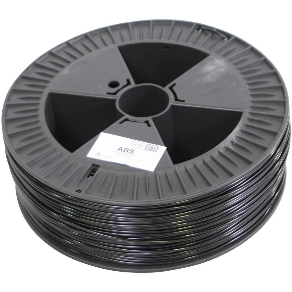 Nitka iz umetne mase za 3D-tiskalnik RepRap 100107 ABS plastični 3 mm črna German RepRap