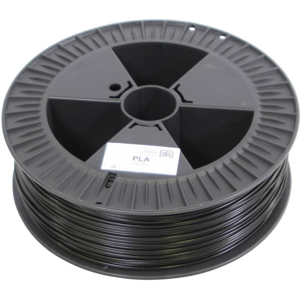 Filament German RepRap 100294 PLA plastika 3 mm crna
