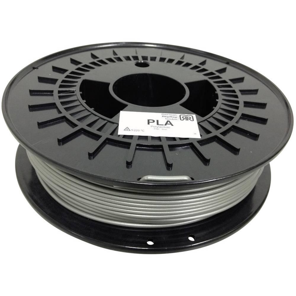 Nitka iz umetne mase za 3D-tiskalnik RepRap 100254 PLA plastični 3 mm srebrna 750 g German RepRap