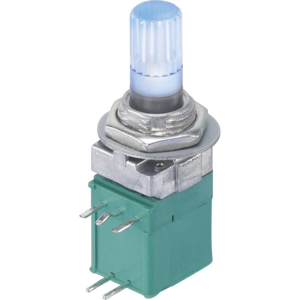 9MLB1H5B9-B-16KP-2B10K-003-6H Vrtljivi potenciometer Z LED Mono 0.05 W 10 kΩ 1 KOS