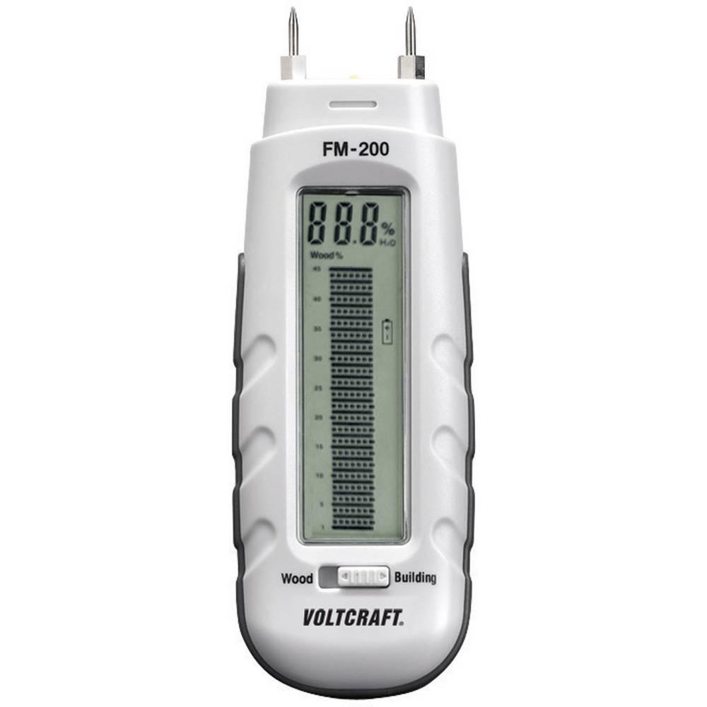 Merilnik vlage v materialu VOLTCRAFT FM-200 vlažnost v zgradbah (merilno območje): 0.2 do 2 % vol vlažnost v lesu: 6 do 44 % vol