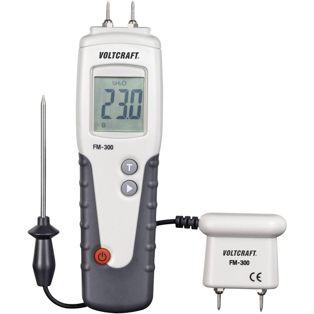 Merilnik vlage v materialu VOLTCRAFT FM-300 vlažnost v zgradbah (merilno območje): 6 do 99 % vol vlažnost v lesu: 6 do 99 % vol