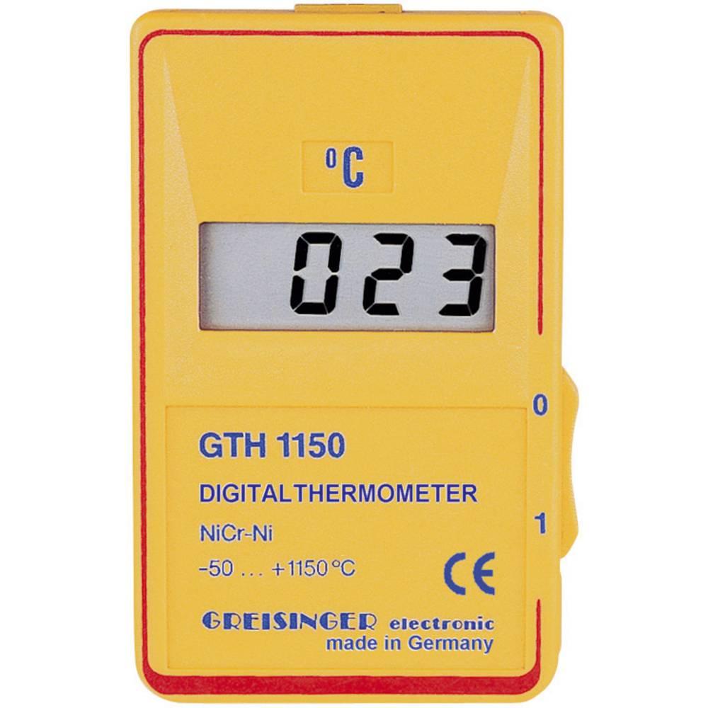 Merilnik temperature Greisinger GTH 1150 C -50 do +1150 °C vrsta tipala: K kalibracija narejena po: delovnih standardih