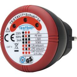 Testboy Schuki® 3A ispitivač utičnica CAT II 300 V LED
