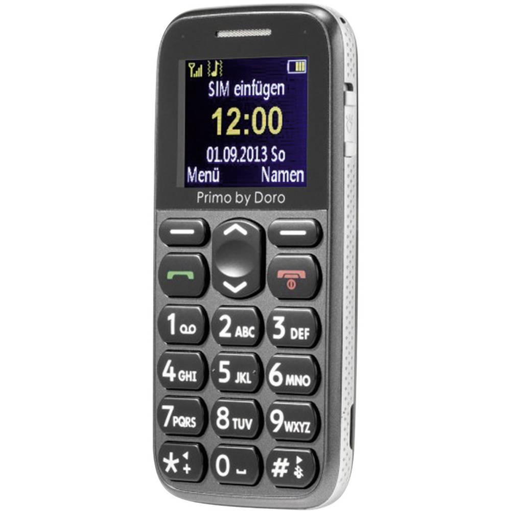Doro Primo 215 Handy Mobilni telefon za starejše,velike tipke siva