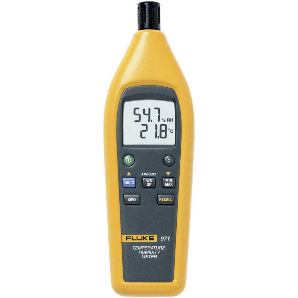 Merilna naprava za merjenje vlažnosti (Hygrometer) Fluke 971 10 % rF 90 % rF kalibracija narejena po: delovnih standardih,