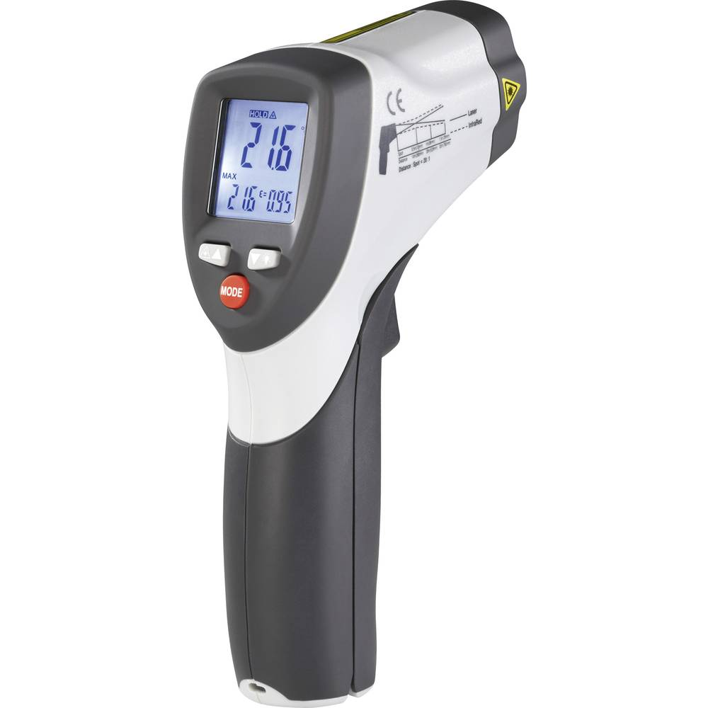 Infrardeči termometer VOLTCRAFT IR 800-20D optika 20:1 -50 do +800 °C pirometer