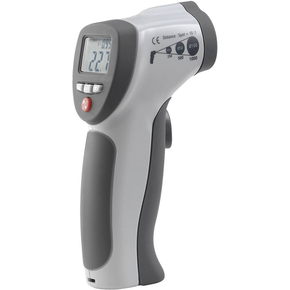 Infracrveni termometar VOLTCRAFT IR 500-10S optika 10:1 -50 do +500 °C pirometar kalibriran prema: tvorničkom standardu