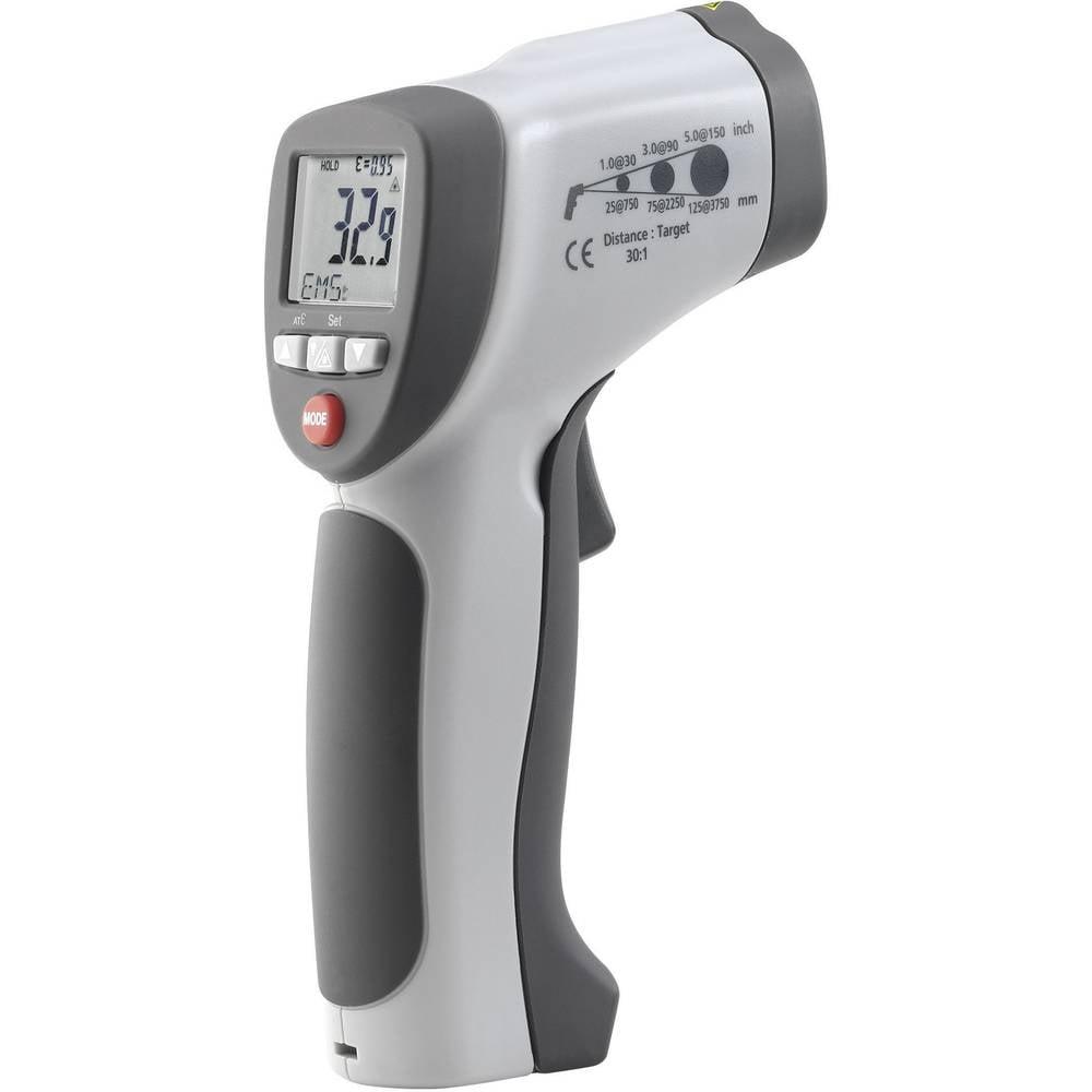 Infracrveni termometar VOLTCRAFT IR 900-30S optika 30:1 -50 do +900 °C kontaktno mjerenje, pirometar kalibriran prema: tvorničko