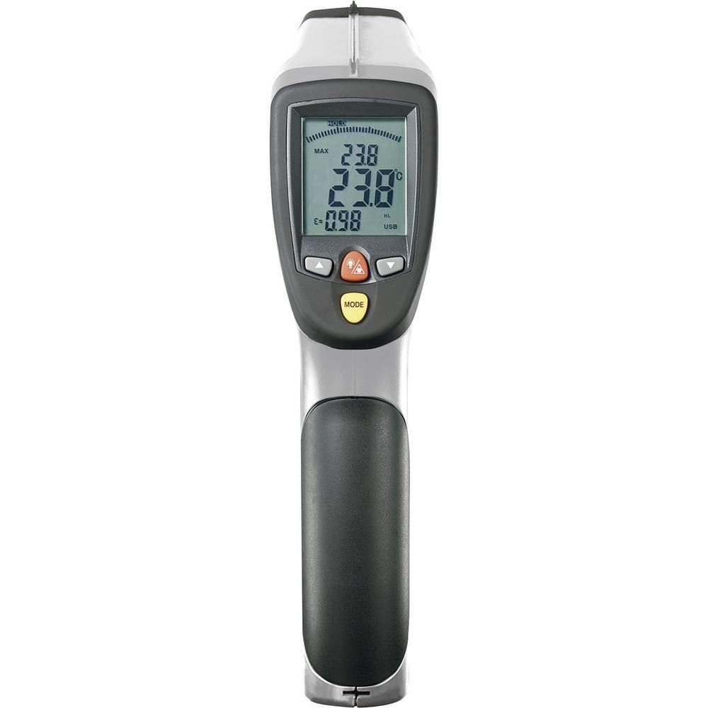 Infrardeči termometer VOLTCRAFT IR-2200-50D optika 50:1 -50 do +2200 °C kontaktno merjenje, pirometer