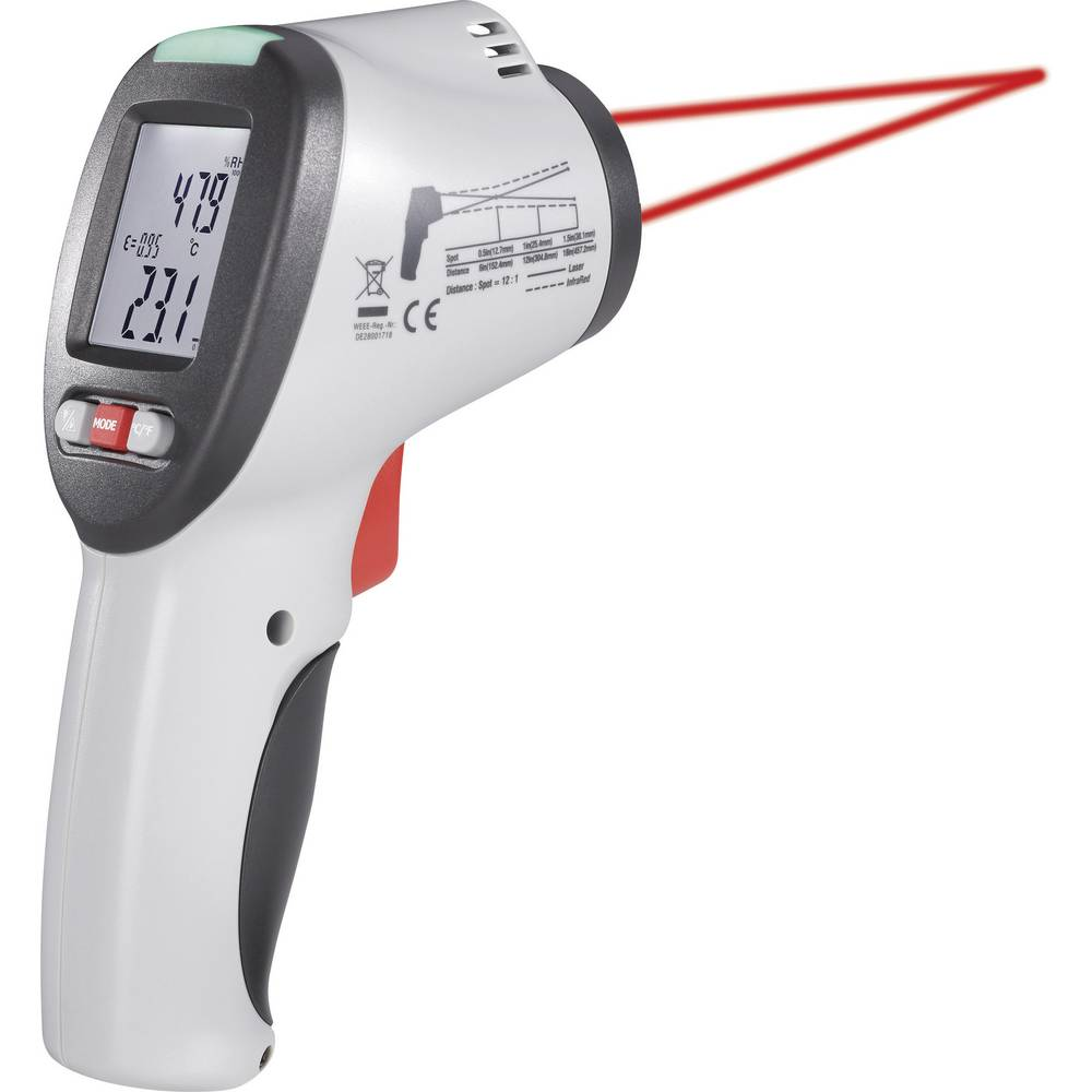 Infrardeči termometer VOLTCRAFT IR-SCAN-350RH optika 12:1, od-50 do +350 C VOLTCRAFT