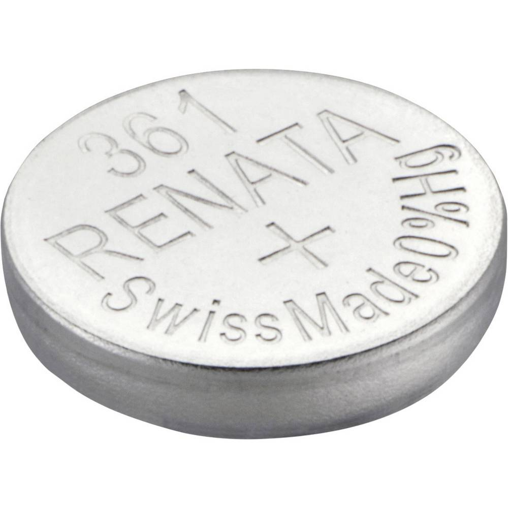 Gumbasta baterija 361 srebro-oksidna Renata SR58 pogodna za jaku struju 24 mAh 1.55 V 1 kom.