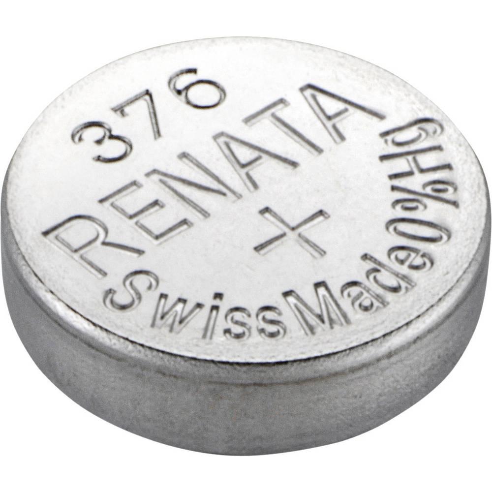 Gumbasta baterija 376 srebro-oksidna Renata SR66 pogodna za jaku struju 27 mAh 1.55 V 1 kom.