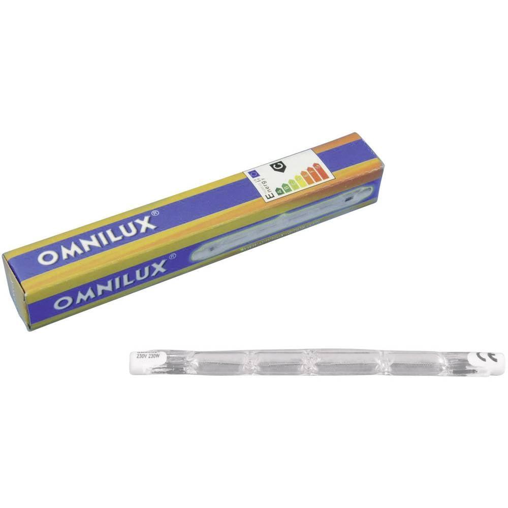 Halogenska žarnica za svetlobne efekte Omnilux 91100301 230 V R7s 230 W Bela Zatemnilna