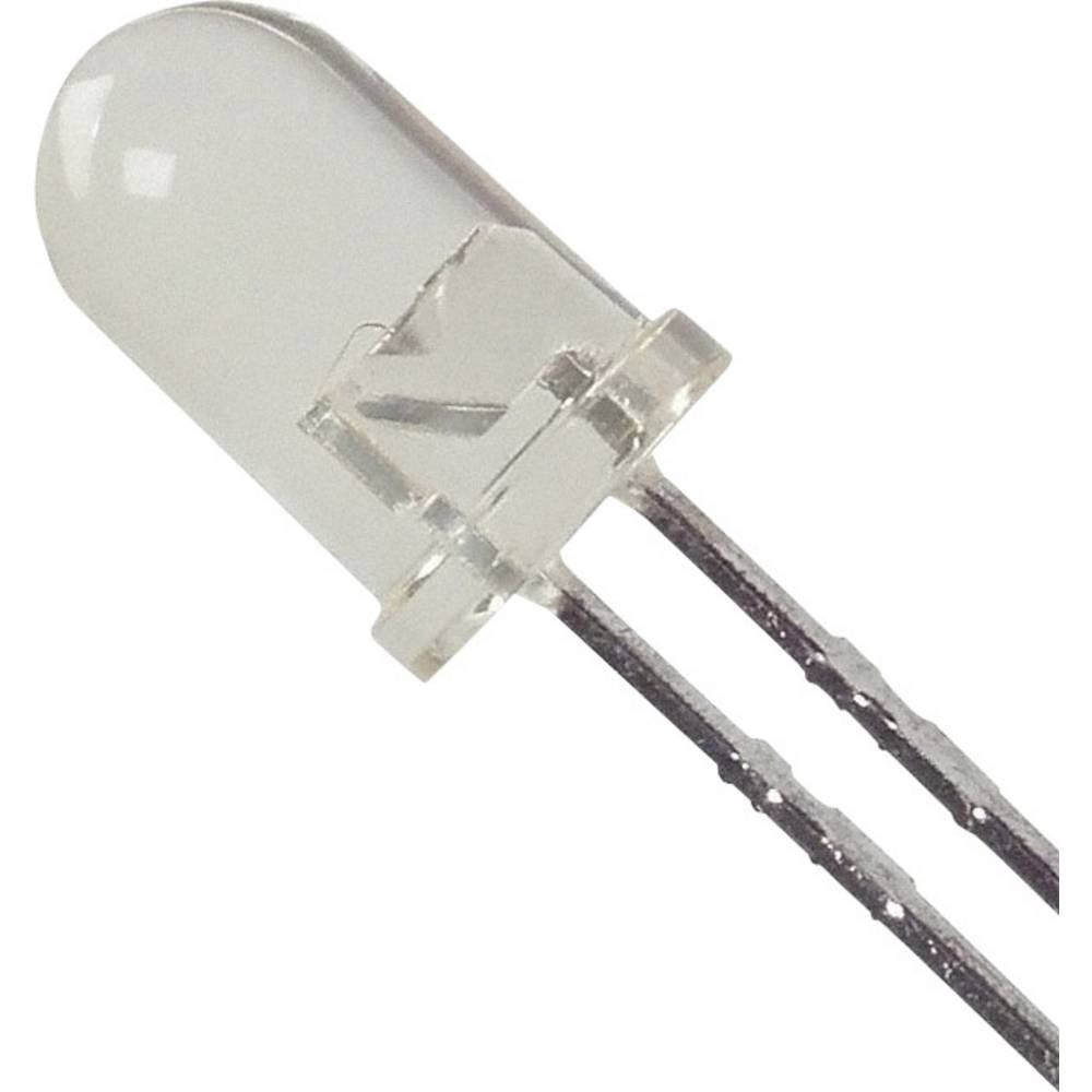 LED med ledninger Broadcom 5 mm 170 mcd 25 ° 20 mA 2.1 V Gul