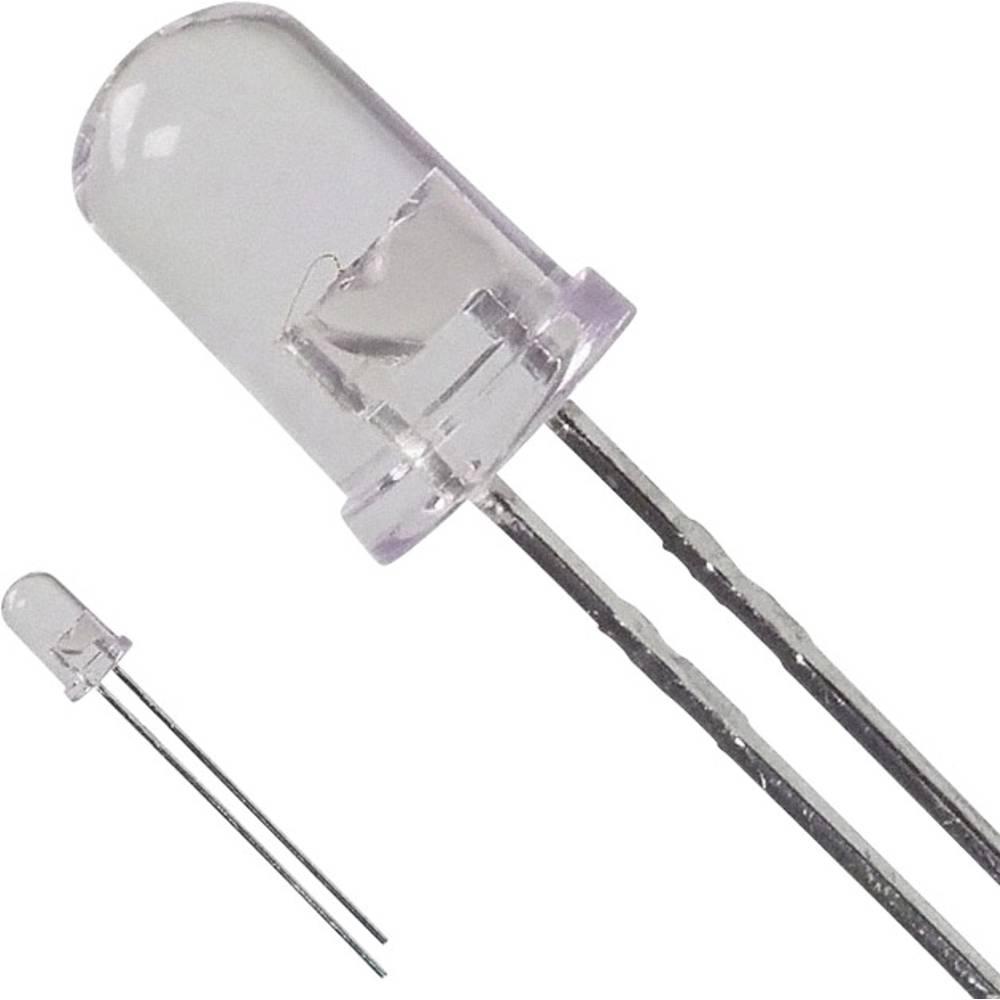 LED med ledninger Broadcom 5 mm 6.0 cd 8 ° 50 mA 1.9 V Rød