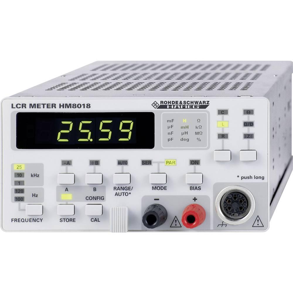 Tester komponent, digitalni Rohde & Schwarz HM8018 kalibracija narejena po: delovnih standardih, CAT I število znakov na zaslonu