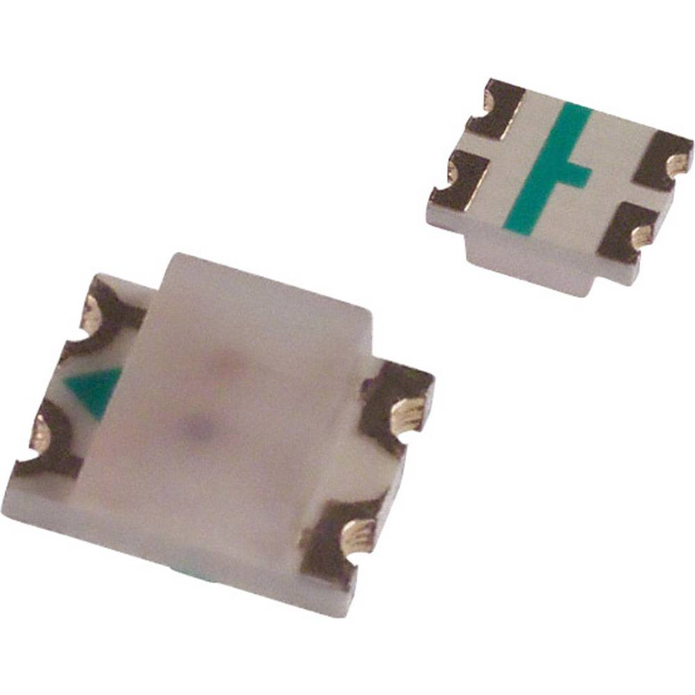 SMD-LED (value.1317393) Broadcom HSMF-C155 3225 15 mcd, 10 mcd 170 ° Grøn, Rød