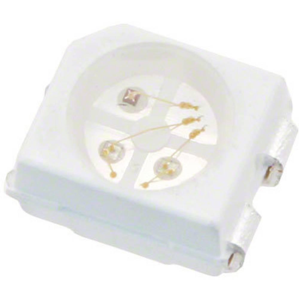 SMD-LED (value.1317393) Broadcom HSMF-A341 -A00J1 PLCC4 80 mcd, 160 mcd, 40 mcd 120 ° Rød, Grøn, Blå