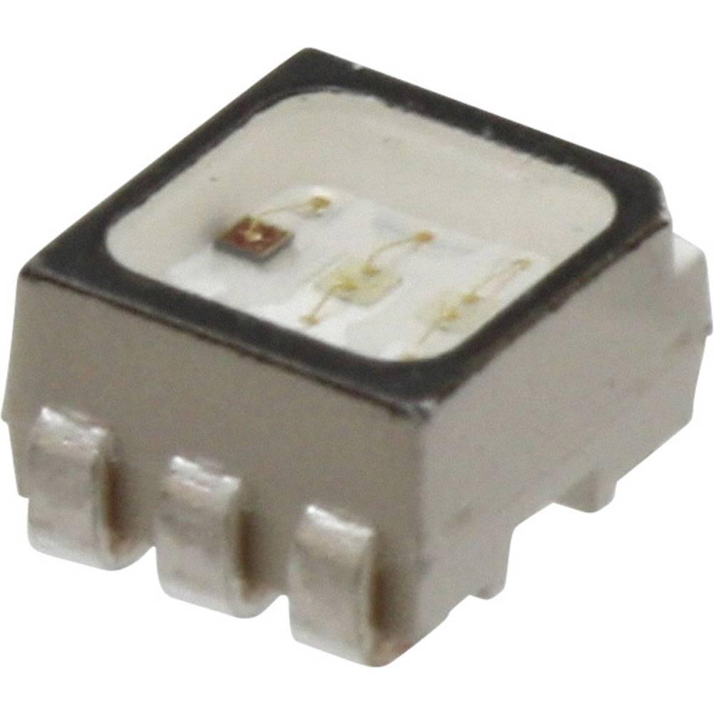 SMD-LED (value.1317393) Broadcom ASMT-YTD2-0BB02 PLCC6 745 mcd, 1600 mcd, 380 mcd 120 ° Rød, Grøn, Blå