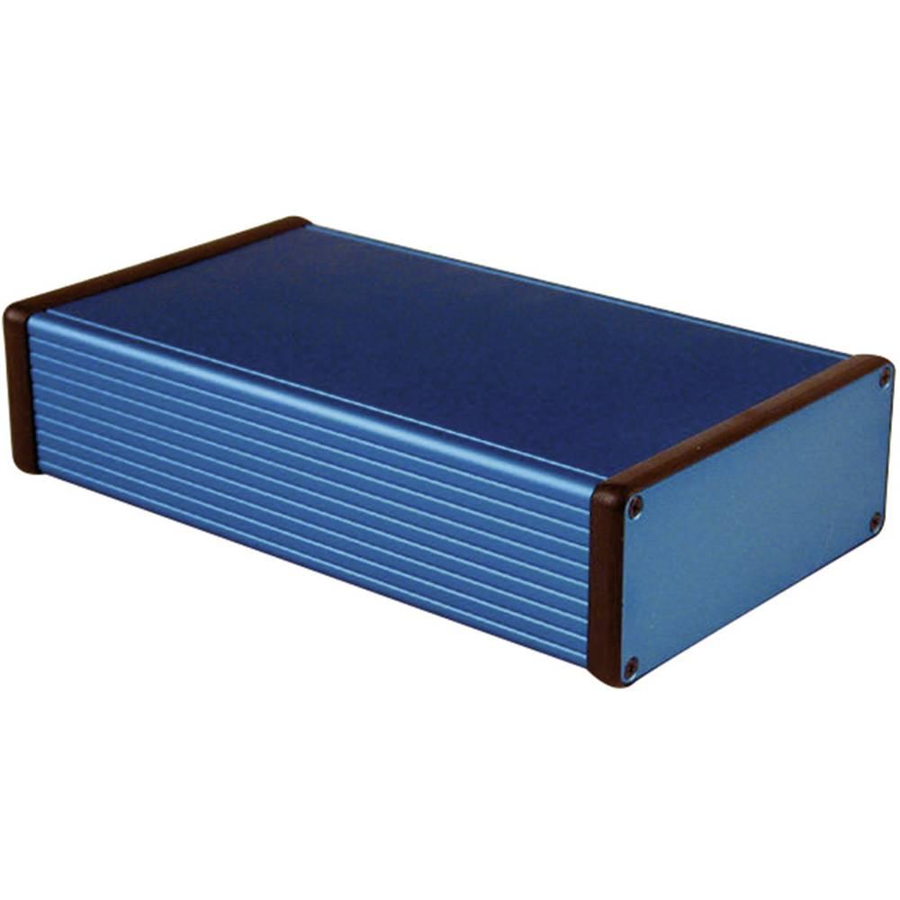Universalkabinet 220 x 125 x 51.5 Aluminium Blå Hammond Electronics 1455Q2201BU 1 stk
