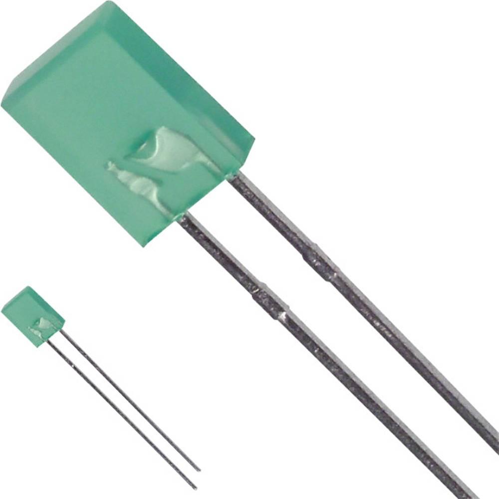 LED med ledninger LUMEX 2 x 5 mm 10 mcd 110 ° 25 mA 2.2 V Grøn
