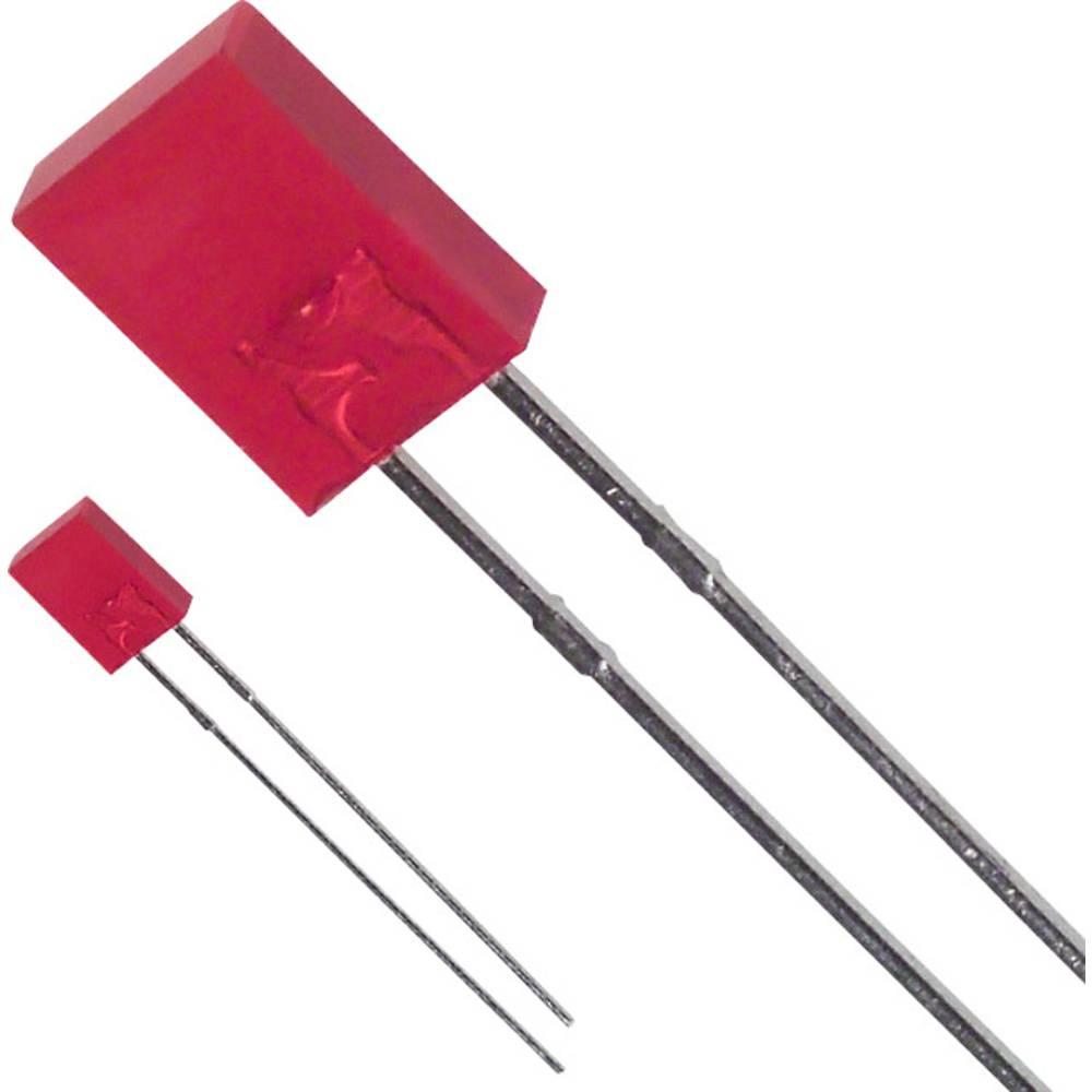 Ožičena LED dioda, rdeča, pravokotna 2 x 5 mm 80 mcd 110 ° 30 mA 1.7 V LUMEX SSL-LX2573SRD