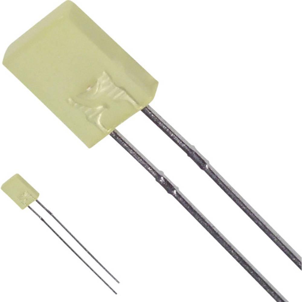 LED med ledninger LUMEX 2 x 5 mm 10 mcd 110 ° 30 mA 2.1 V Gul