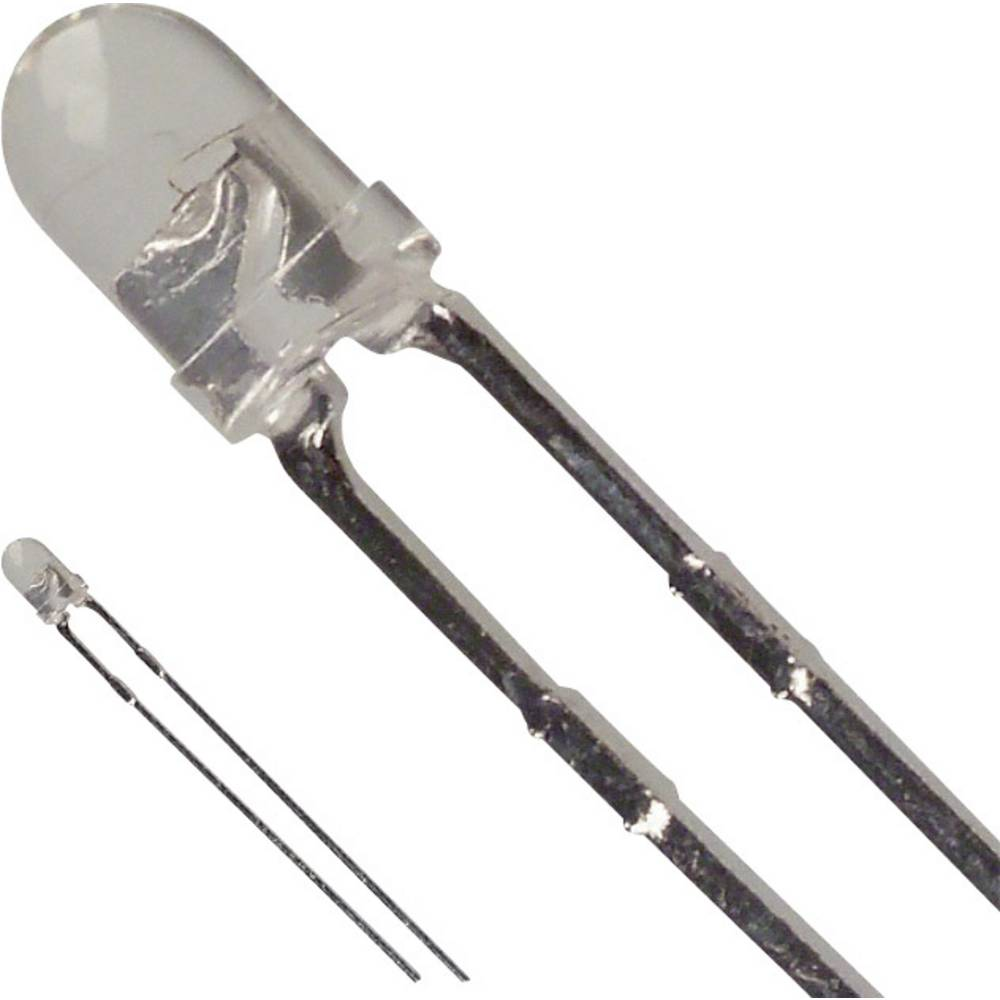 LED bedrahtet (value.1317403) LUMEX 3 mm 90 mcd 30 ° 30 mA 2.1 V Gul