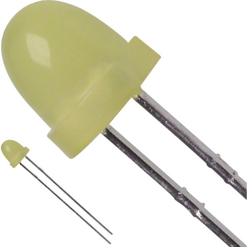 LED bedrahtet (value.1317403) LUMEX 5 mm 20 mcd 60 ° 30 mA 2.1 V Gul