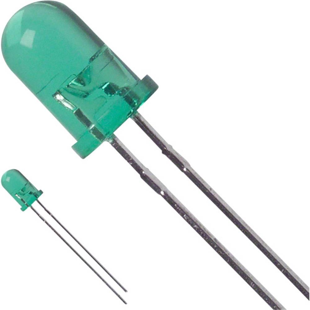 Ožičena LED dioda, zelena, okrogla 5 mm 80 mcd 30 ° 25 mA 2.2 V LUMEX SSL-LX5093LGT