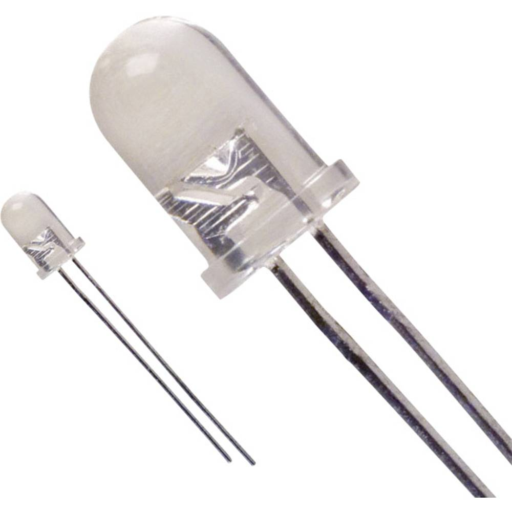 Ožičena LED dioda, rumena, okrogla 5 mm 1000 mcd 30 ° 30 mA 2.1 V LUMEX SSL-LX5093SYC