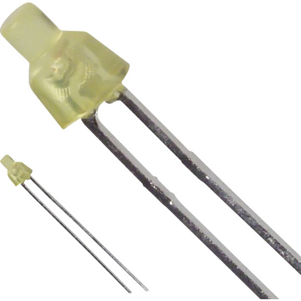 LED med ledninger LUMEX 2 mm 10 mcd 70 ° 30 mA 2.1 V Gul