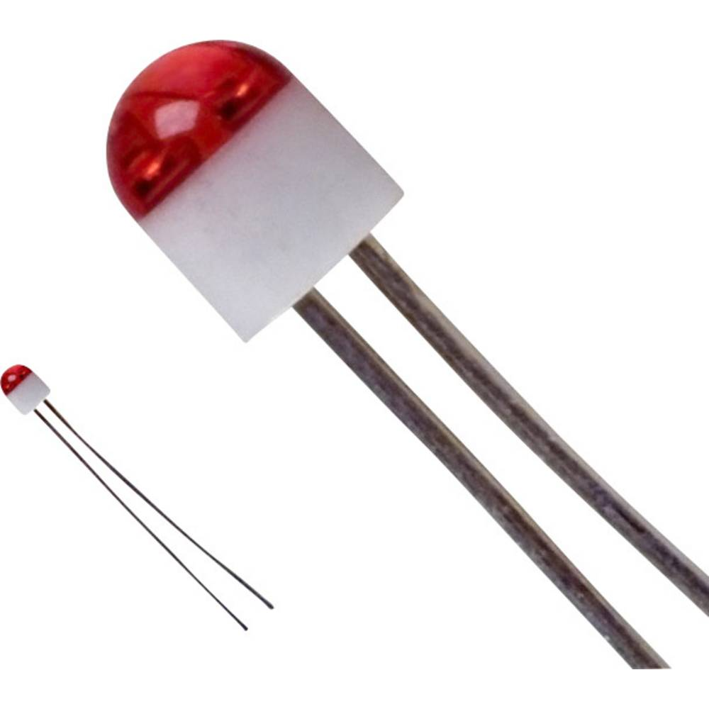 Ožičena LED dioda, rdeča, okrogla, 2 mm 6 mcd 160 ° 30 mA 2 V LUMEX SSL-LX203CIT