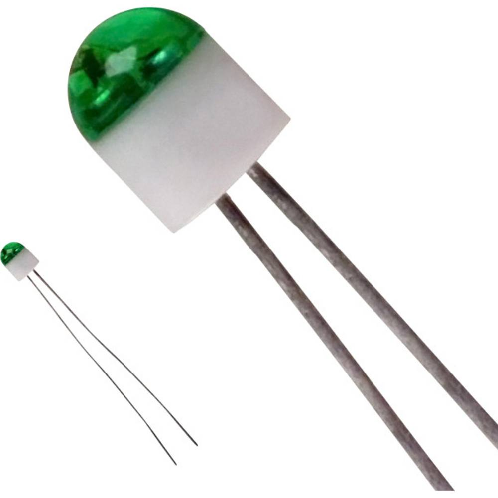 LED med ledninger LUMEX 2 mm 6 mcd 160 ° 25 mA 2.2 V Grøn