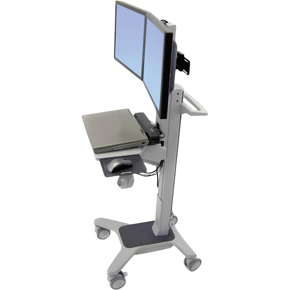 Ergotron Neo-Flex® Dual WideView WorkSpace 2 kratni Stojalo za monitor na kolesih 25,4 cm (10
