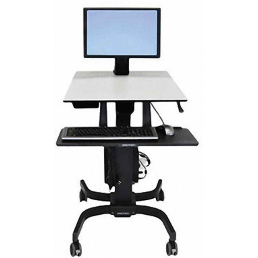 Ergotron WorkFit-C 1 kratni stojalo za monitor na kolesih 25,4 cm (10) - 61,0 cm (24) nastavljiv po višini, polica za tipkovni