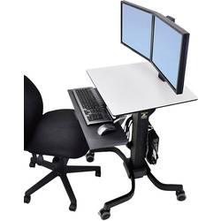 Ergotron WorkFit-C 2 kratni Stojalo za monitor na kolesih 25,4 cm (10) - 61,0 cm (24) Nastavljiv po višini, Polica za tipkovni