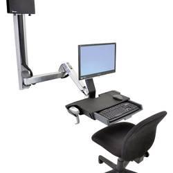 Ergotron StyleView Sit-Stand Combo 1 kratni Stenski nosilec za monitor 25,4 cm (10) - 61,0 cm (24) Nastavljiv po višini, Polic