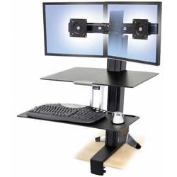 Ergotron WorkFit-S 2 kratni Namizni nosilec za monitor 25,4 cm (10) - 61,0 cm (24) Nastavljiv po višini, Vrtljivi