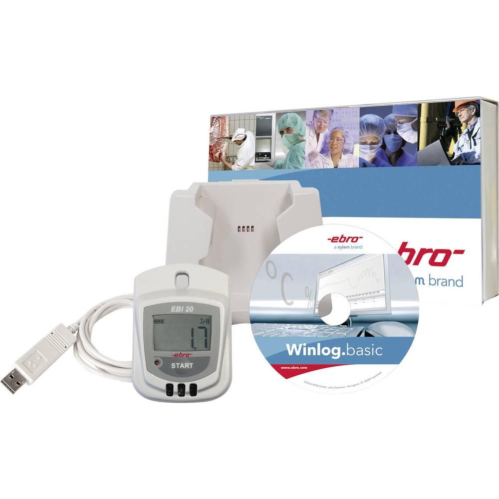 Kalib. ISO-Komplet zapisnika zapisnik podataka EBI 20-TH1 za temperaturu/vlažnost zraka 1601-0048 ebro