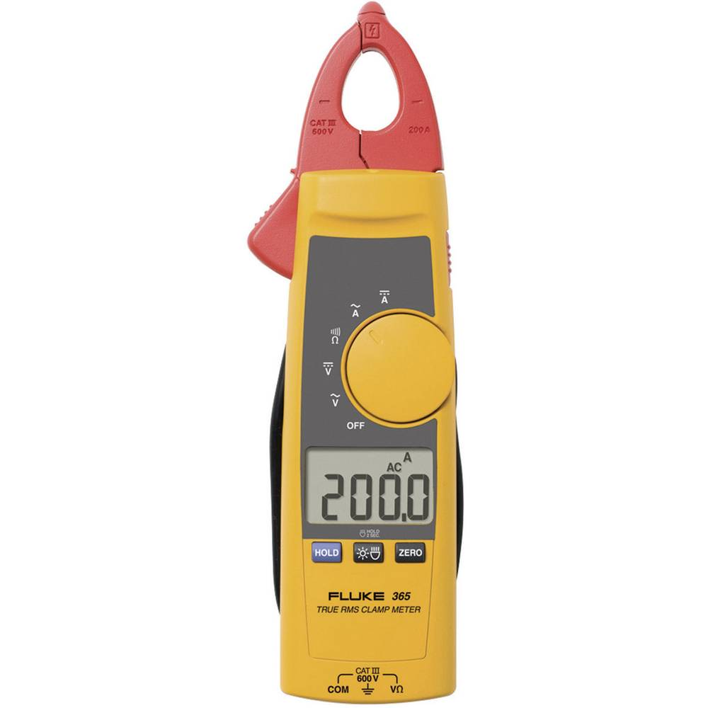 Tokovne klešče, Ročni multimeter Digitalni Fluke 365 CAT III 600 V Prikaz (štetje): 2000
