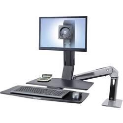 Ergotron WorkFit-A 1 kratni Namizni nosilec za monitor 25,4 cm (10) - 61,0 cm (24) Nastavljiv po višini, Polica za tipkovnico,
